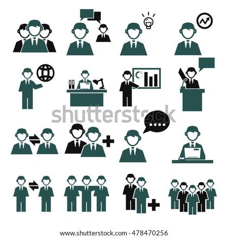 employee, employees icon set #478470256