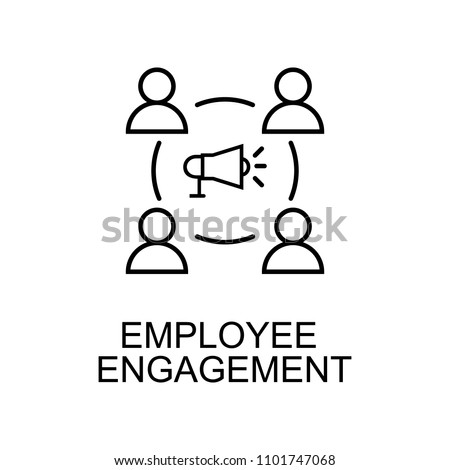 employee engagement line icon. Element of human resources icon for mobile concept and web apps. Thin line employee engagement icon can be used for web and mobile. Premium icon on white background