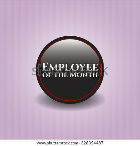 Employee of the Month black emblem