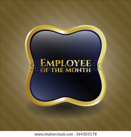Employee of the Month gold emblem