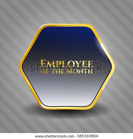Employee of the Month golden badge