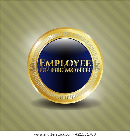 Employee of the Month golden emblem
