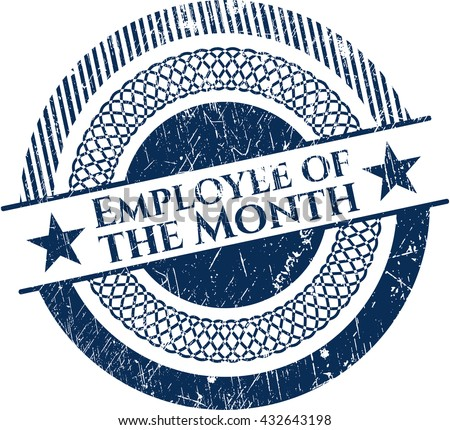 Employee of the Month grunge style stamp