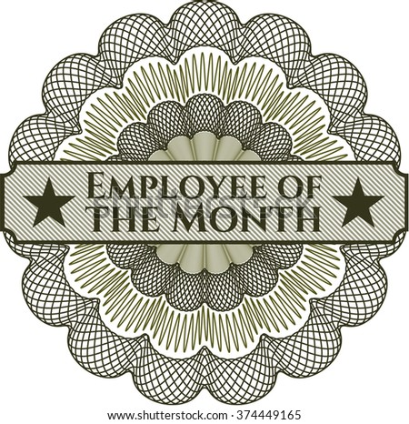 Employee of the Month linear rosette