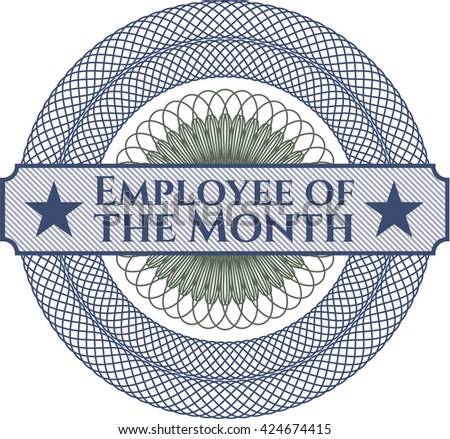 Employee of the Month rosette (money style emplem)
