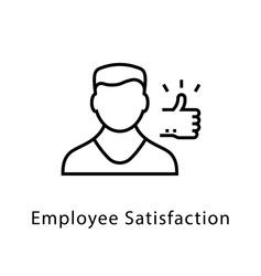 Employee Satisfaction Vector Line Icon