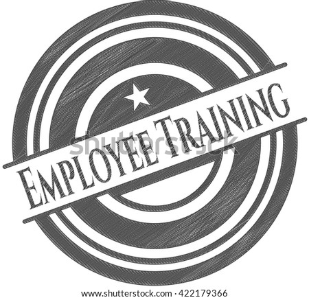Employee Training drawn with pencil strokes
