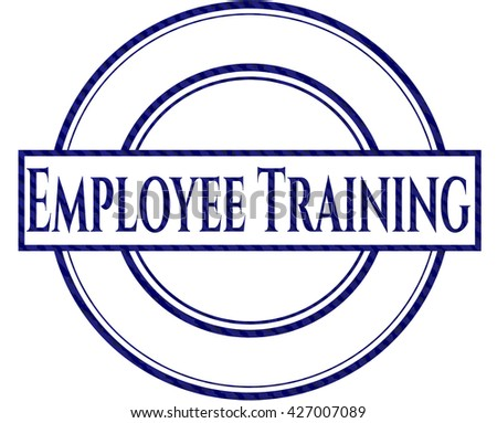 Employee Training jean or denim emblem or badge background