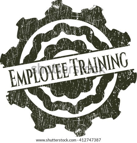 Employee Training rubber grunge texture seal