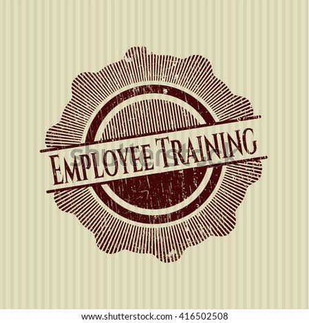 Employee Training rubber stamp