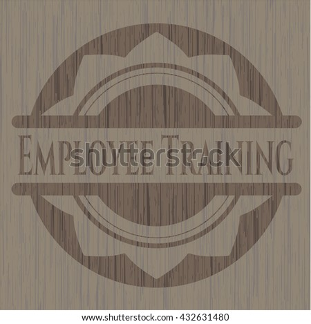 Employee Training wood emblem. Retro