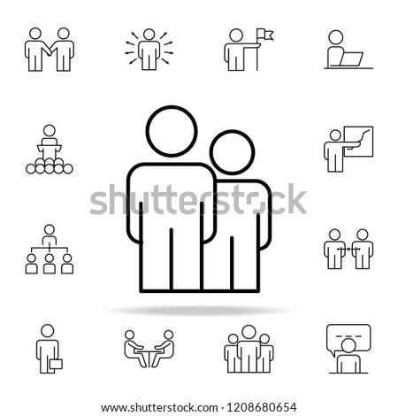employees icon. Business Organisation icons universal set for web and mobile on white background