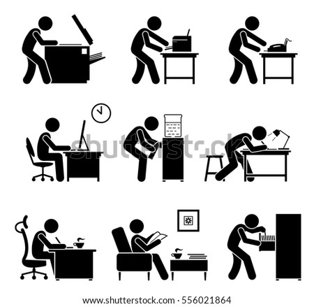 employees using office