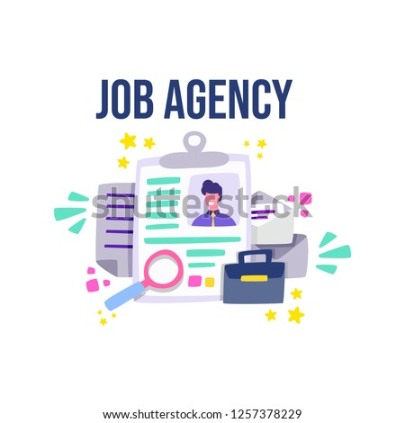 Employment agency helping companies to hire staff. Agencies to find a talented job candidate pool. Cartoon vector.