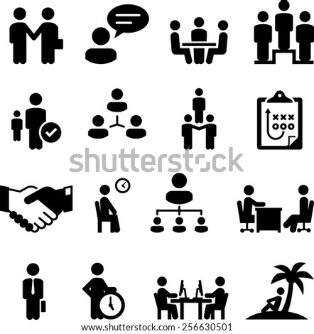 Employment, Human Resources, and work related icons
