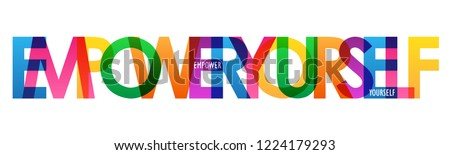 EMPOWER YOURSELF colorful letters banner