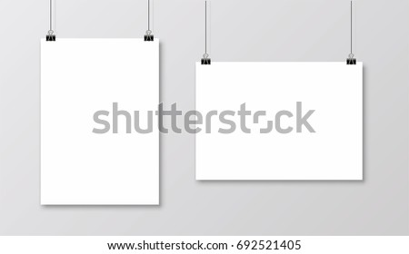 Blank Poster Mockup for Photos - Download Free Vector Art, Stock ...