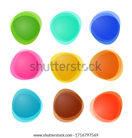 Empty Abstract Vector Colorful Shapes Isolated on White Background