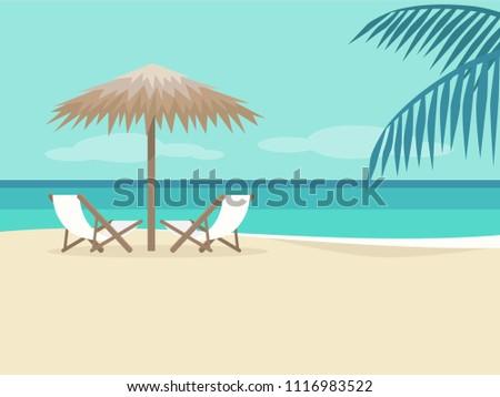 empty beach landscape two