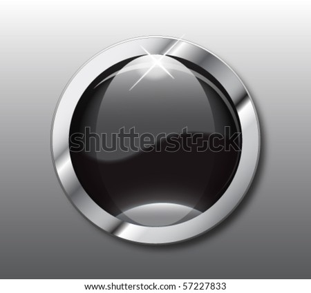 Empty black web button vector - stock vector
