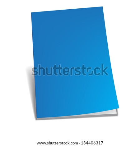 Empty blue brochure Vector illustration