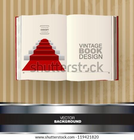 empty book with a cartoon. vector design