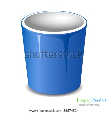 Empty bucket icon isolated. Vector illustration. - stock vector
