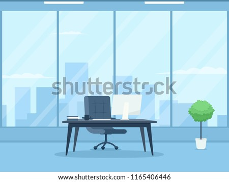 Empty ceo office interior. Clipart image