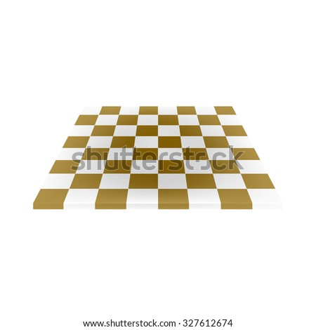 empty chess board in brown and