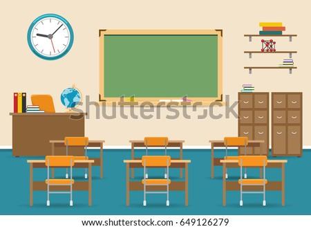 empty classroom vector...