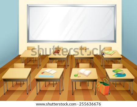 Empty Classroom Wallpaper Fantage BG