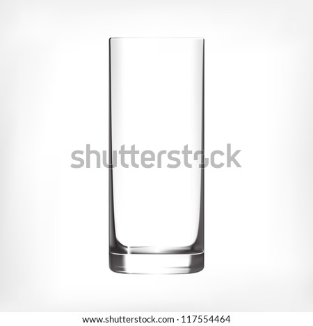 empty clean drinking glass cup
