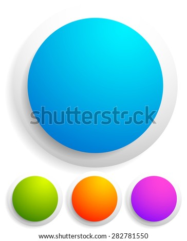 empty colorful circle shape