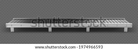 Empty conveyor belt isolated on transparent background. ストックフォト ©