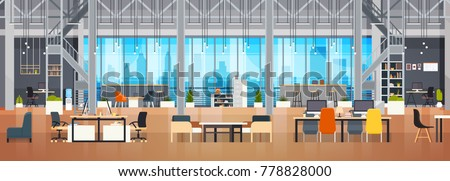 empty coworking space interior