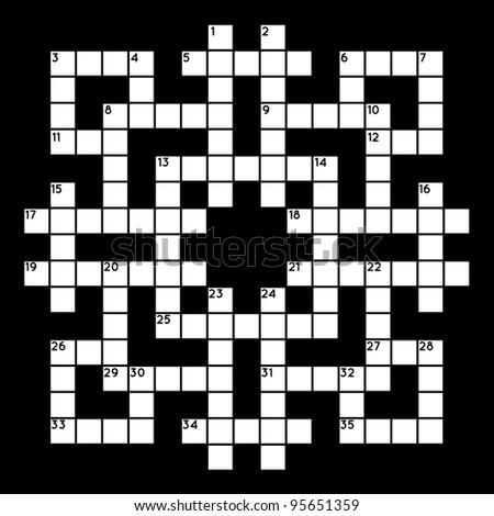 Empty crossword grid