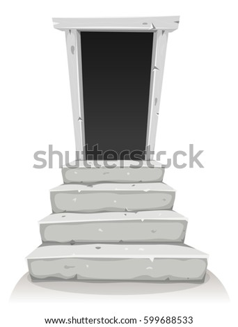 empty door on stairway