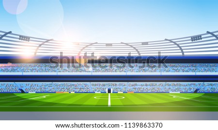 empty football stadium field