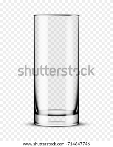 empty glass cup isolated vector