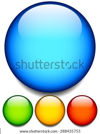 empty glossy balls  circle