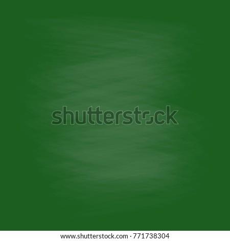 empty green chalkboard background. vector illustration.