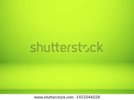 empty green color studio room