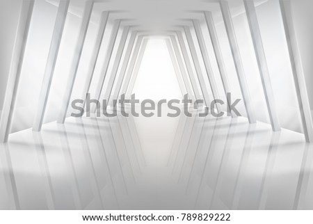 Empty hall in shopping centre. Vector illustration.