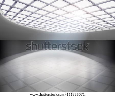 empty hall vector illustration