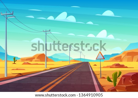 empty highway road in desert