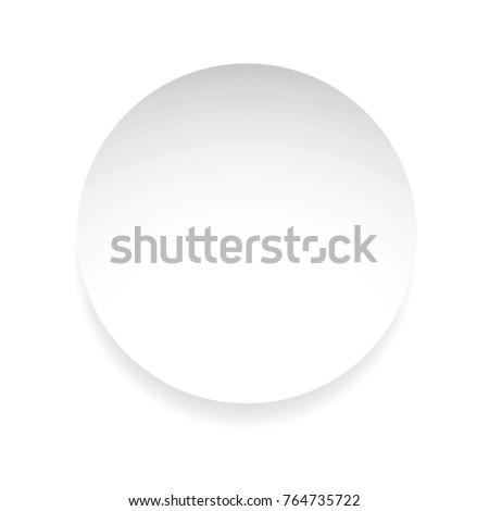 Empty label round sticker tag vector