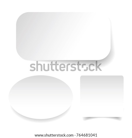 Empty label sticker set vector #764681041