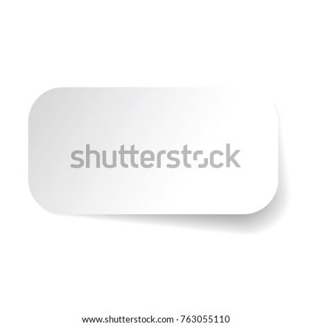 Empty label sticker tag