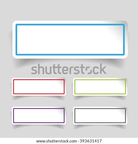 Empty label stickers set