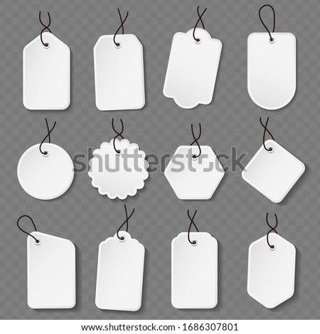 Empty labels price tags template. Price tags set.